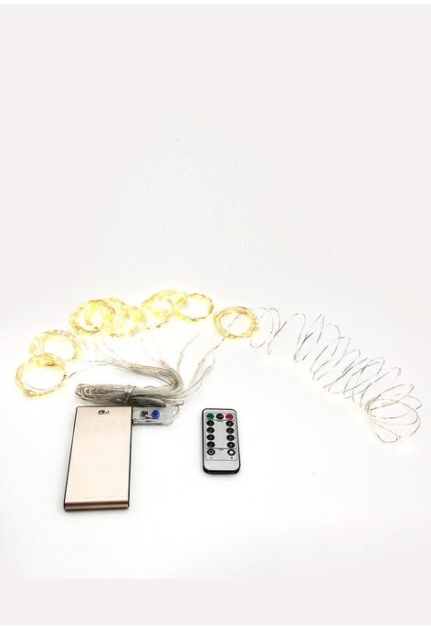 UKGPro 100粒小LED燈3X3平方米瀑布USB窗簾裝飾燈串,聖誕萬聖節佈置裝飾美少女兒童房間客廳浪漫浴室家居門市飾櫃窗簾牆壁鬥口天花植物花園燈串星星燈泡USB供電省電安全(ULS-3X3-FALL-USB)