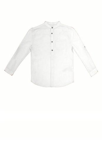MARKS & SPENCER white Long Sleeves Linen Shirt BDBB1KABDF583FGS_1