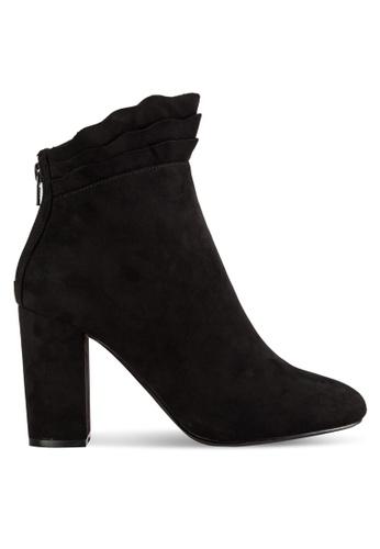 Dorothy Perkins black Black Aloe Ruffle Boots DO816SH15CRWMY_1