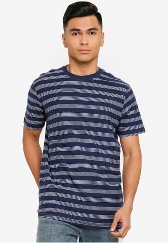 Springfield blue Regular Fit Short-Sleeved Striped T-Shirt 0B4F2AA2D7064DGS_1