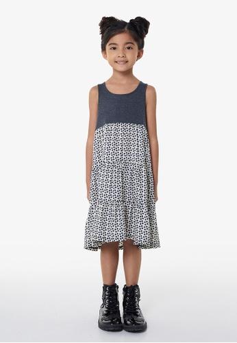 Gen Woo grey A-Line Polka Dot Dress By Gen Woo 371D5KA3A399F1GS_1