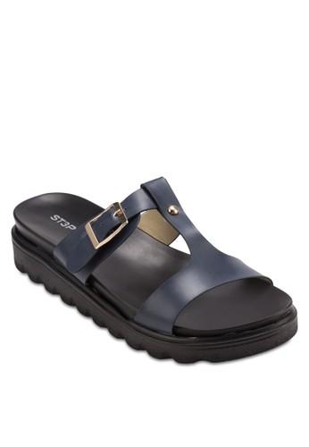 簡約扣環涼鞋esprit outlet尖沙咀, 女鞋, 懶人鞋