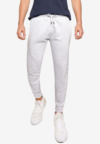 !Solid grey Ron Organic Cotton Sweatpants 8EF18AA75622F3GS_1