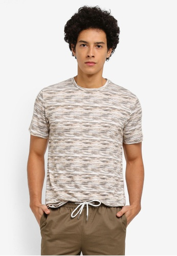 ZALORA brown SPACE DYE TEE 020A3AAD46D11BGS_1