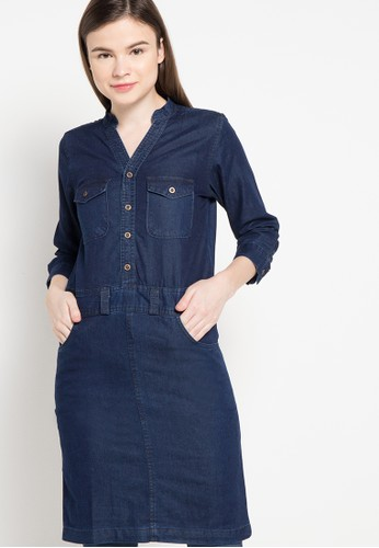 CARVIL blue Tunique Denim Julia-Blu CA566AA16CJVID_1