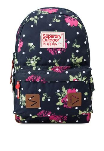 點點印花玫瑰花後背包, 包, 後esprit 價位背包