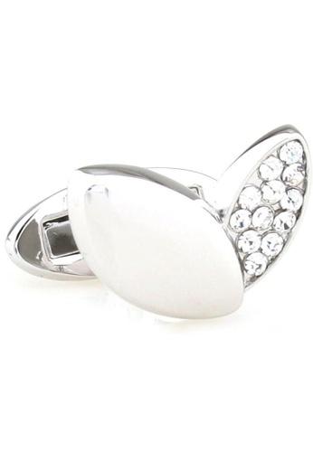 The Little Link Cufflinks silver Crystal Petals cufflinks TH089AC0G2ZNSG_1