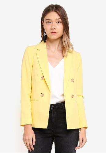 Miss Selfridge yellow C:Yellow Blazer 67A9EAAFADA993GS_1