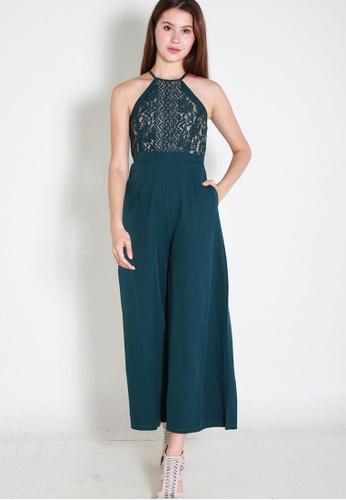 Leline Style green Keilyn Lace Romper LE802AA0FEZRSG_1