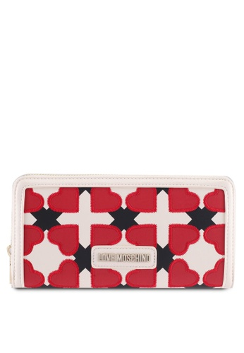 Love Moschino white and red and multi LOVE MOSCHINO Wallet LO478AC0SXZAMY_1