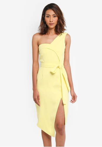 Lavish Alice yellow Asymmetric Midi Dress LA457AA0SSQCMY_1