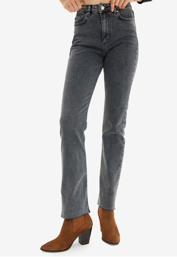 Trendyol grey Slim Fit Flare Jeans 69293AA162B174GS_1