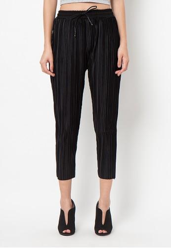 Meitavi's Plisket Velvet Baggy Pants - Black