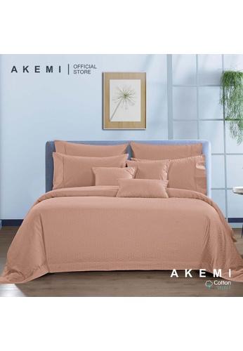 AKEMI beige AKEMI Cotton Select Affinity - Monaco Jill Maple Peach (Fitted Sheet Set) 156AAHL27EFA58GS_1