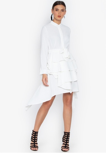 Susto The Label white Esther Layered Dress 7FD5AAA1016B13GS_1