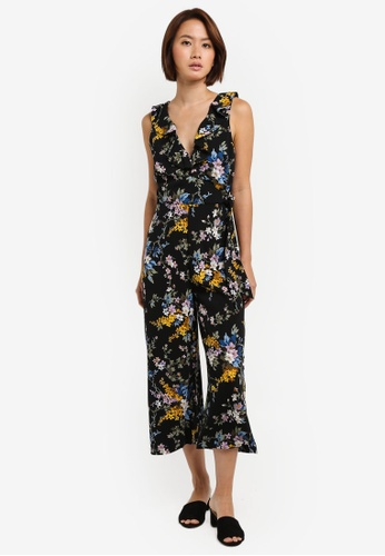 be8bc794646 Buy WAREHOUSE Trailing Floral Jumpsuit Online on ZALORA Singapore