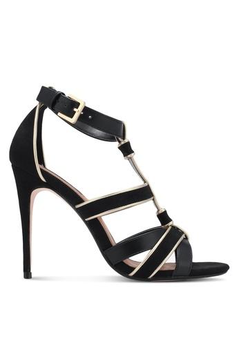 ZALORA 黑色 交叉繞帶細跟高跟鞋 A41DESH7061473GS_1