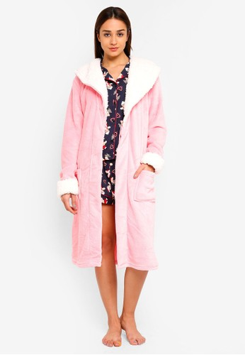 Chelsea Peers pink Pink Dressing Robe With White Lining F33A8AA9BD973CGS_1