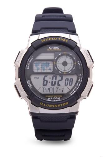 Jual Casio Casio Jam Tangan Pria - Black Silver - Resin - AE-1000W ... d9ce4895bf