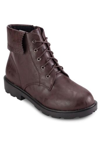 反折領繫帶短靴esprit旗艦店, 女鞋, 靴子