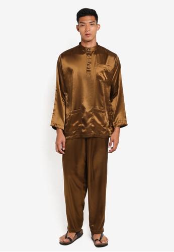 Gene Martino brown Traditional Baju Melayu F0E1FAA5720AD0GS_1