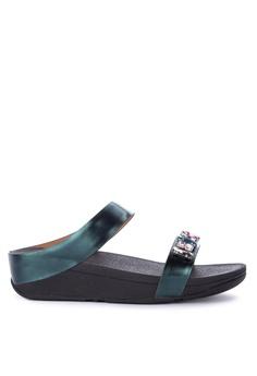 05f1cd04c69c Fitflop green Fine Bejewelled Sandals 9FE4ESHD21CD90GS 1