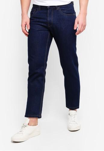 OVS blue Straight Fit Basic Denim Jeans 4905BAA018B275GS_1
