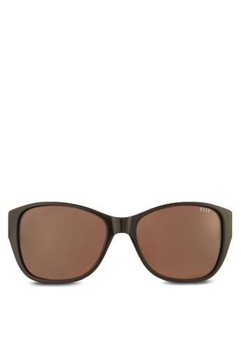 馬賽克印花方框太陽眼鏡、 飾品配件、 飾品配件ELLE馬賽克印花方框太陽眼鏡最新折價