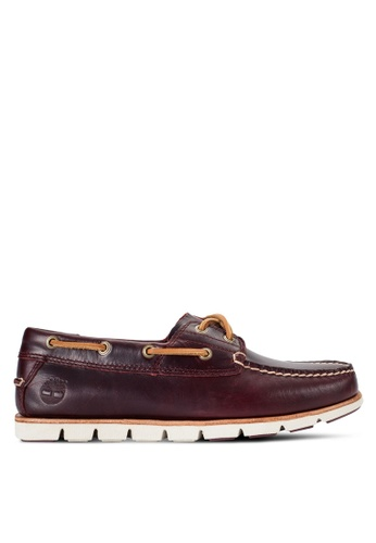 Timberland red Tidelands 2-Eye Boat Shoes TI063SH96PJJMY_1
