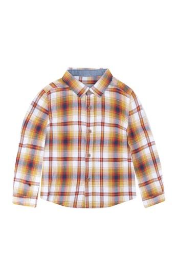 LC Waikiki red Baby Boy's Chequered Shirt 7E8C7KAFD29302GS_1