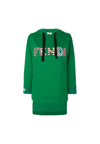 Fendi green Fendi Studded Logo Hoodie in Green E3A0DAA45F8354GS_1