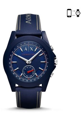 Armani Exchange blue Armani Exchange Men's Blue Dial Hybrid Smartwatch AR162AC0RK3UMY_1