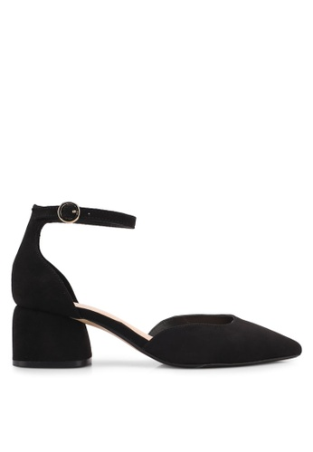 Mango black Ankle-Cuff Pointed Toe Shoes A3869SHB891595GS_1