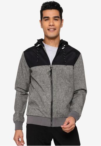 Indicode Jeans black Brushwood Hooded Jacket 46134AA9B20E99GS_1