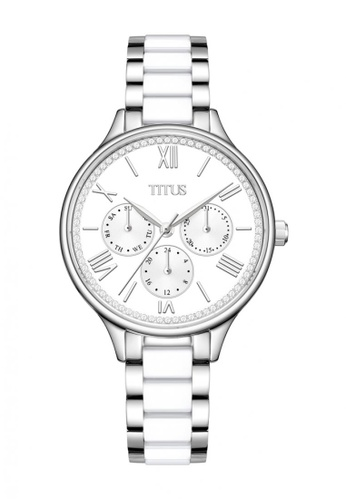 Solvil et Titus silver Fashionista Women's Multi-Function Quartz Watch in Silver White Dial and Two-Tone Stainless Steel Bracelet 90F87ACC89775EGS_1