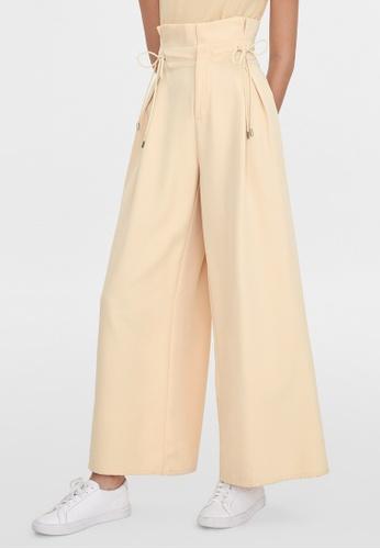 Pomelo beige Pleated Paper Bag Pants - Cream 14349AA603B691GS_1