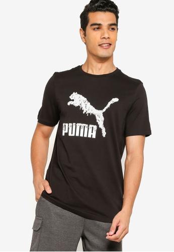 Puma black Graphic Play Logo Men's Tee A2D47AA48FFDBAGS_1