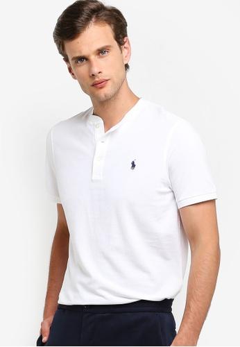 15c88210 Short Sleeve Henley Mesh Polo Shirt