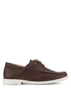 【ZALORA】 仿皮革船型鞋