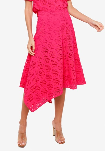 H&M pink Broderie Anglaise Skirt DFD52AA92F95AAGS_1
