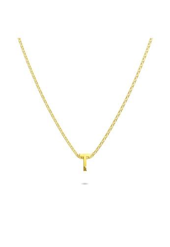 Bullion Gold gold BULLION GOLD Initials Brick Alphabet Letter Necklace Gold Layered Steel Jewellery  - T 0D86FACEA29412GS_1