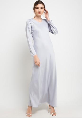 LUIRE by Raden Sirait grey Cv-Inner Long Dres 977B1AA0761881GS_1