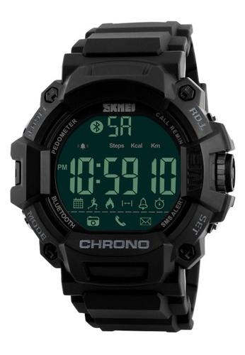 e1120bea91d3a3 Skmei black SKMEI 1249 Men Smart Watch Calorie Pedometer Multi-Functions Remote  Camera 50M Waterproof