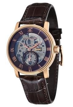 Thomas Earnshaw Westminster Es-8041-05 Men's Genuine Leather Strap Watch