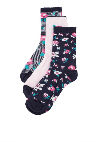 Dorothy Perkins multi Multi 3 Pack Floral Socks 80561AA7ACCE2AGS_1