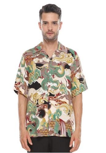 Dyllon brown Dyllon Hawaiian Printed Shirt DFE5DAAA6E2099GS_1