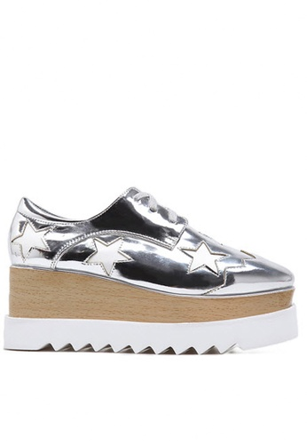 Twenty Eight Shoes silver Wood Platform Derbies 1629-3 TW446SH25BFYHK_1
