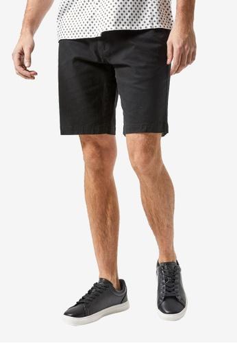 Burton Menswear London black BLACK CHINO SHORTS 6C495AA1E76AA3GS_1