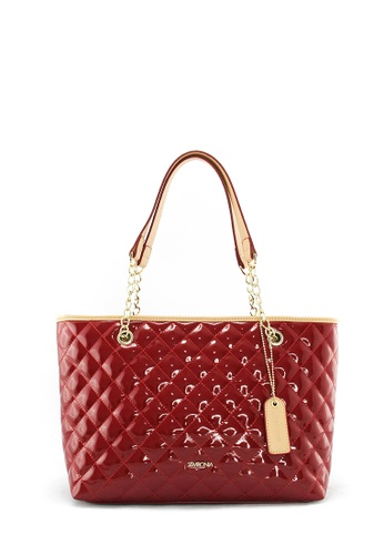 SEMBONIA red SEMBONIA Synthetic Leather Tote Bag 0469AACE606B79GS_1