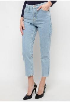 450b7f451c0 MKY Clothing blue Plain Boyfriend Jeans in Light Blue C7DFAAA3D1CA49GS_1